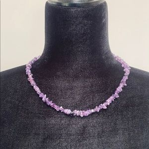 """Jewelry - Natural Amethyst Necklace 18"""""""